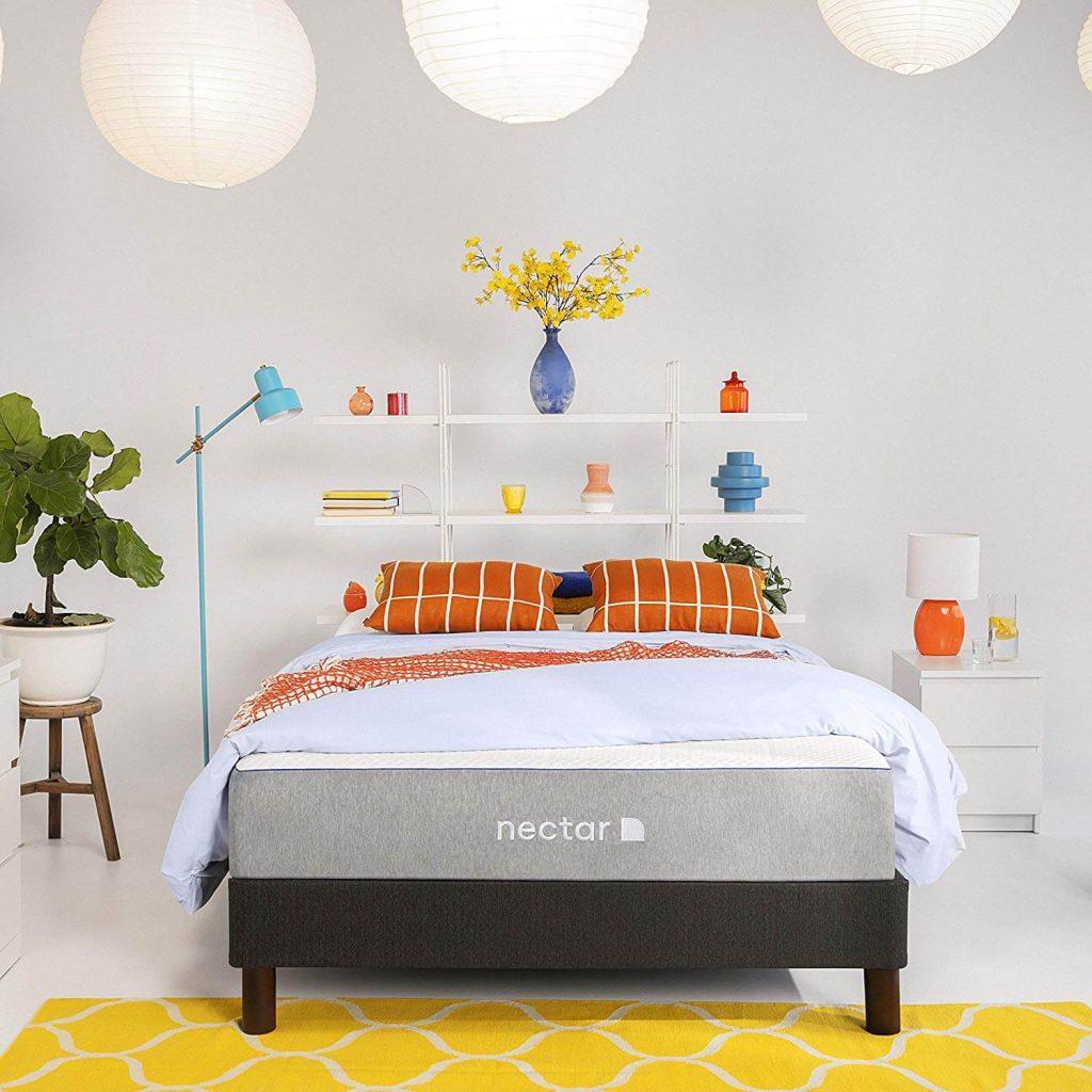 Nectar Queen Mattress + 2 Pillows Included - Gel Memory Foam - CertiPUR-US Certified Foams
